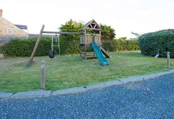 A children's play-area in the garden.
