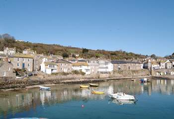 Mousehole harbour, just a stroll down the lane.