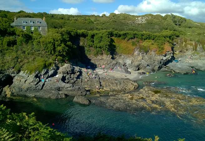 Prussia Cove, a lovely place for kayaking and swimming.