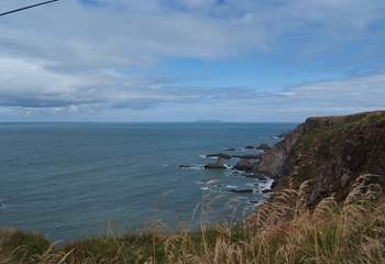 The view from the top of the hill before heading down to Hartland Quay.
