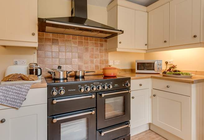 The range cooker is an added bonus for cooking family meals.