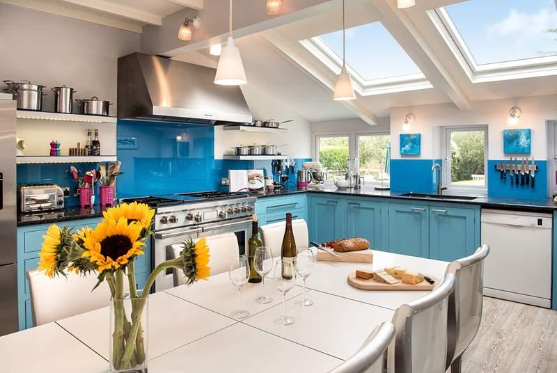 The kitchen/dining-room overlooks the garden.