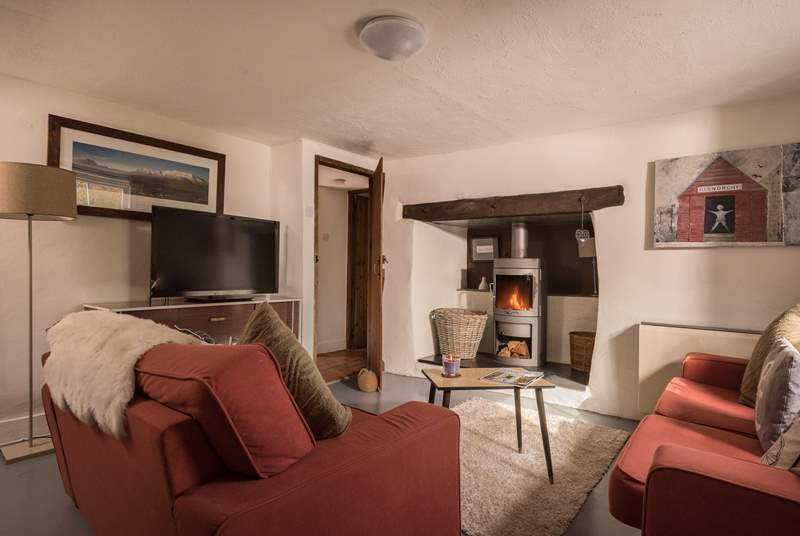 The two wood-burners make sure that Stormleigh Cottage is always warm and toasty.