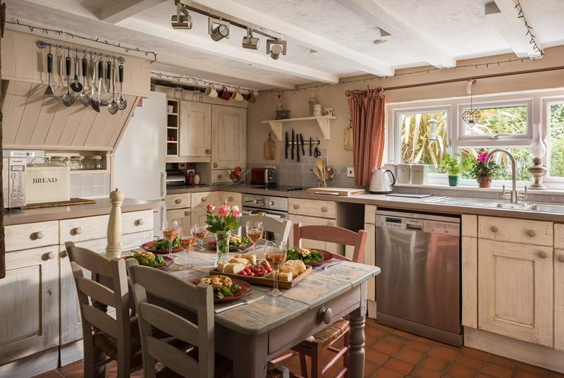 The lovely cottage kitchen.