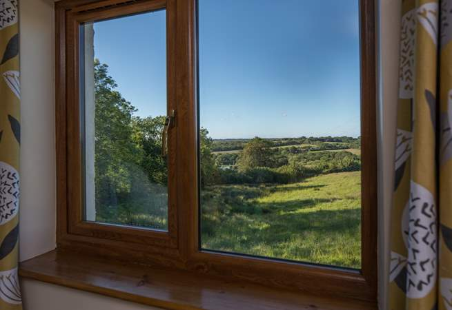 Amazing views can also be enjoyed from the bedroom window.