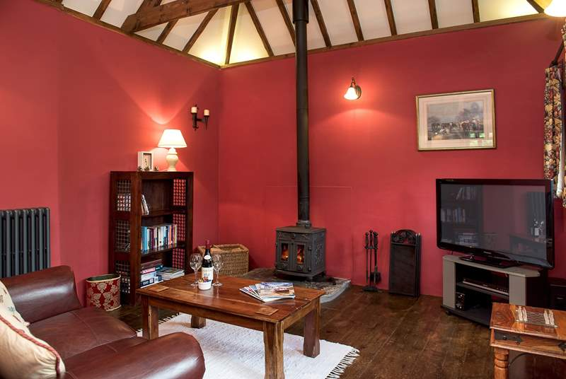 The toasty woodburner makes this is a perfect retreat all year round