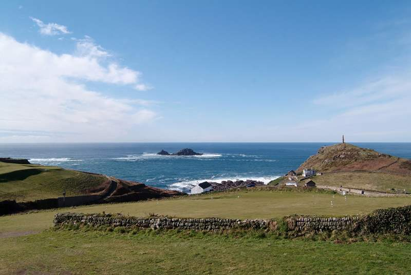 Utopia overlooks the golf course here at Cape Cornwall (not the view from the property).