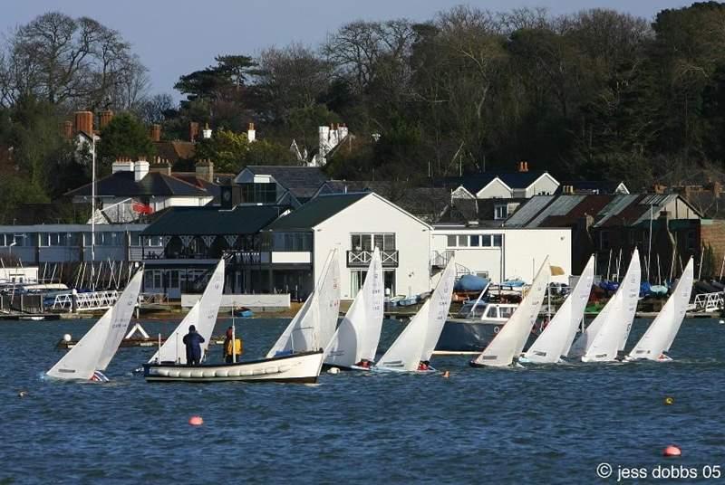 Bembridge Harbour, a hive of sailing activity