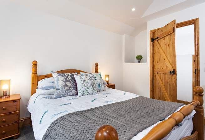There is a step taking you up into the master bedroom, which is very cosy and snug.