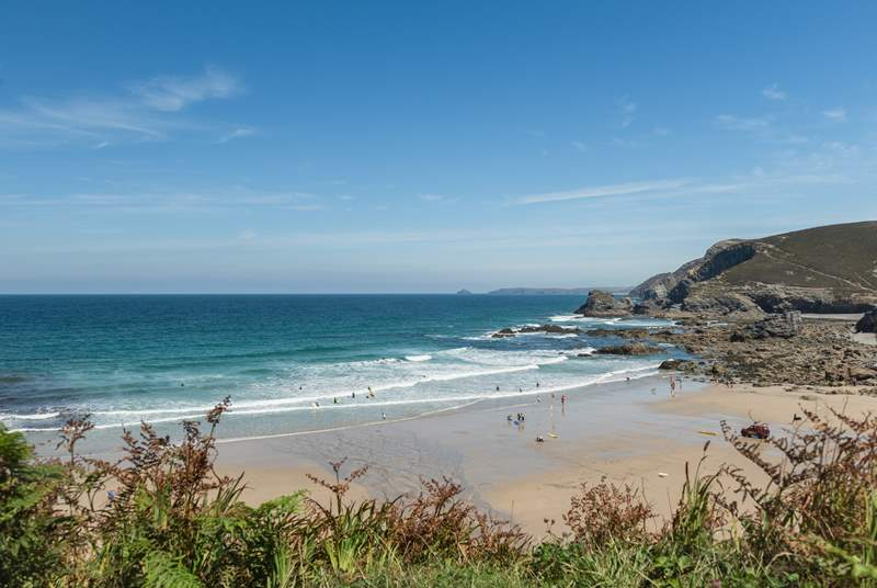 Visit St Agnes, with its stunning beach and laid back cafes and bistros.