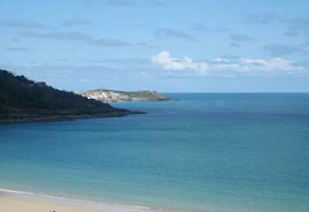 The bay of St Ives is a haven for artists, due to the ever-changing sea shades.