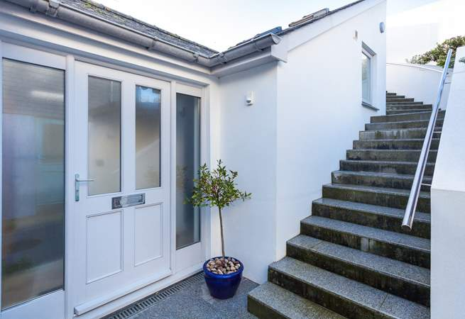 There are 32 external steps leading down to the front door - which will certainly help work off all of those ice creams!