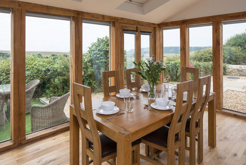 Fabulous views from the dining-area make any meal a very special occasion.