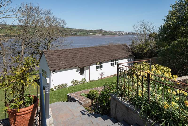 Cliff Top Cottage is perched on the water's edge. The views are spectacular.