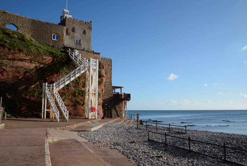 Jacob's Ladder on the Jurassic Coast at Sidmouth. The cafe/restaurant at the top serves delicous food and cakes.