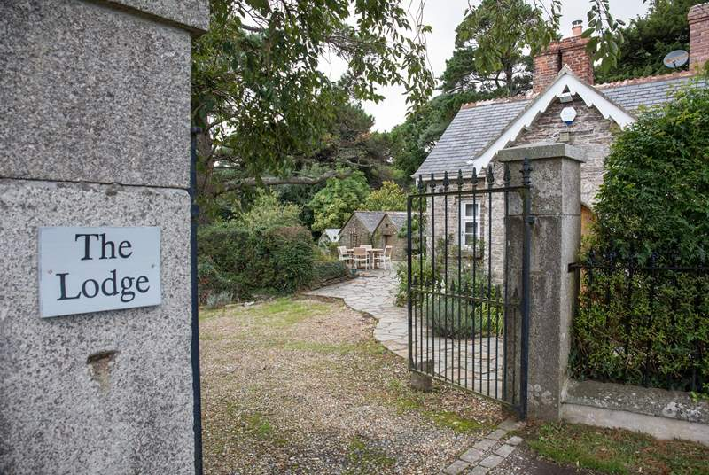 The Lodge is accessed via these gates.