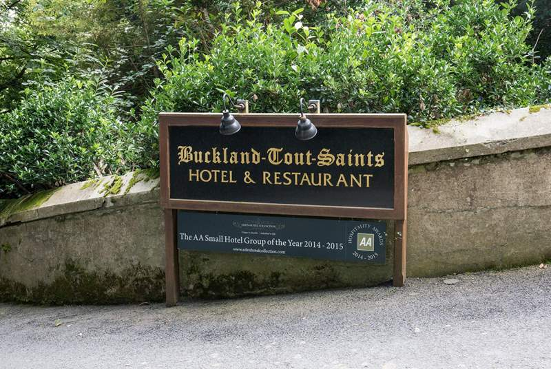 Only a short stroll up the lane is a special treat awaiting you in the shape of the award-winning Buckland-Tout-Saints Hotel & Restaurant. Go on, treat yourself to a cream tea on the terrace.