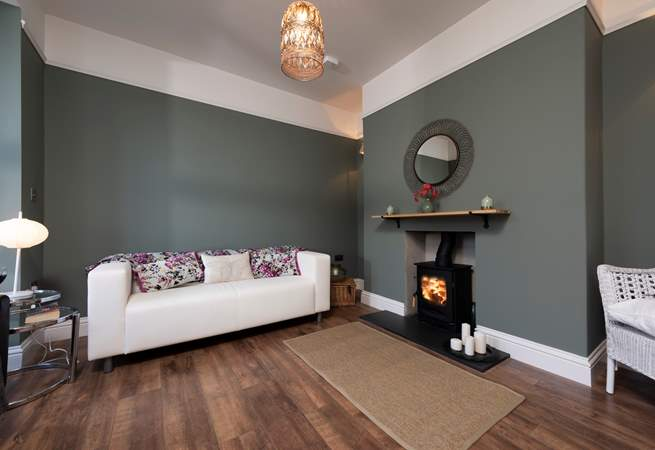 The snug also has a wood-burner making this a perfect retreat all year round.