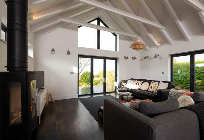 The large windows really let the light flood in and certainly make the most of the view.