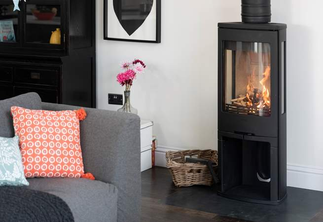 Snuggle up in front of the toasty wood-burner.