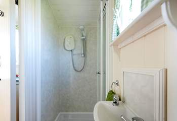 In true Classic Glamping style, there is a hot shower to relax in at the end of a busy day exploring.