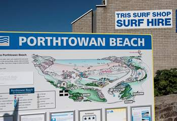 The beach at Porthtowan is under two miles away.