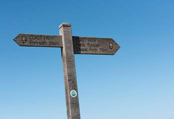 The coast path and its awe-inspiring views are close by.