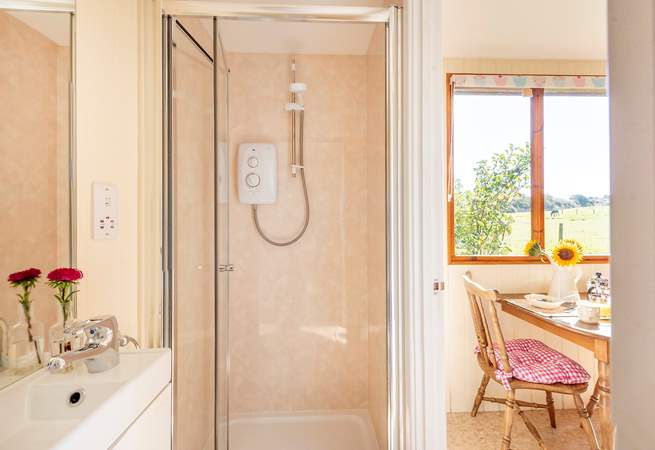 In true Classic Glamping style, there is a well-equipped shower-room.