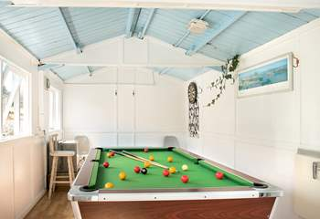 There's even a games-room for those with a competitive edge.