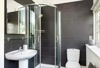 The stylish en suite shower-room in Bedroom 1.