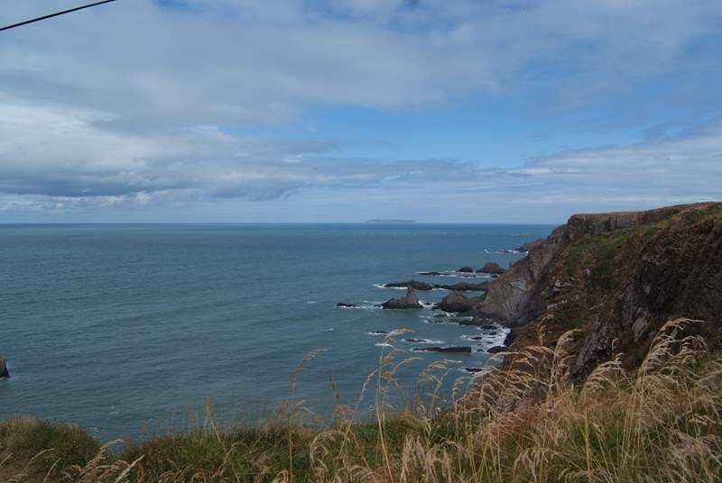 Hartland Point is further along the coast.