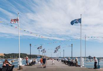 Catch a ferry from the Prince of Wales Pier  to explore the Carrick Roads.