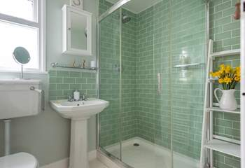 The shower-room has a lovely powerful shower.