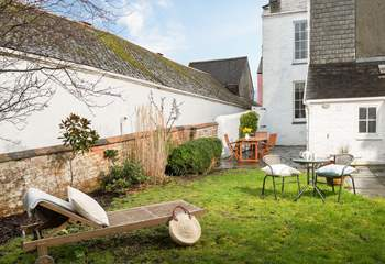 Enjoy sunbathing and relaxing in the private back garden.