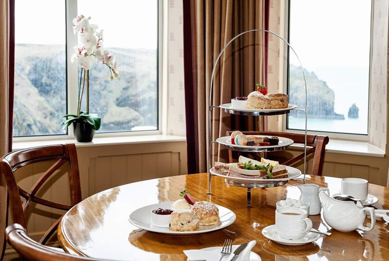 Time for afternoon tea at Mullion Cove Hotel?