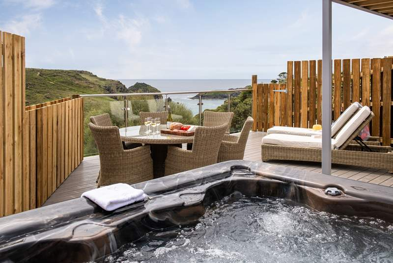 Enjoy a soak in the hot tub whilst looking at the stars.
