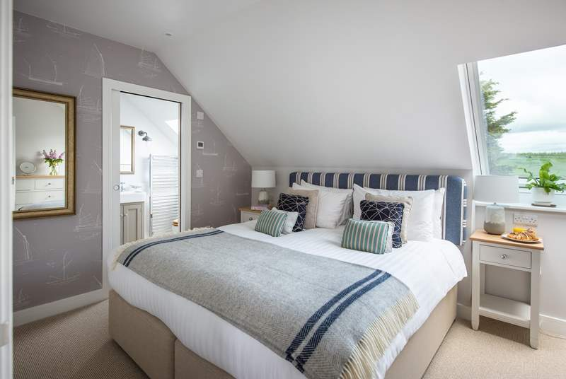 The bedroom on the first floor has an en suite shower room (Bedroom 3).
