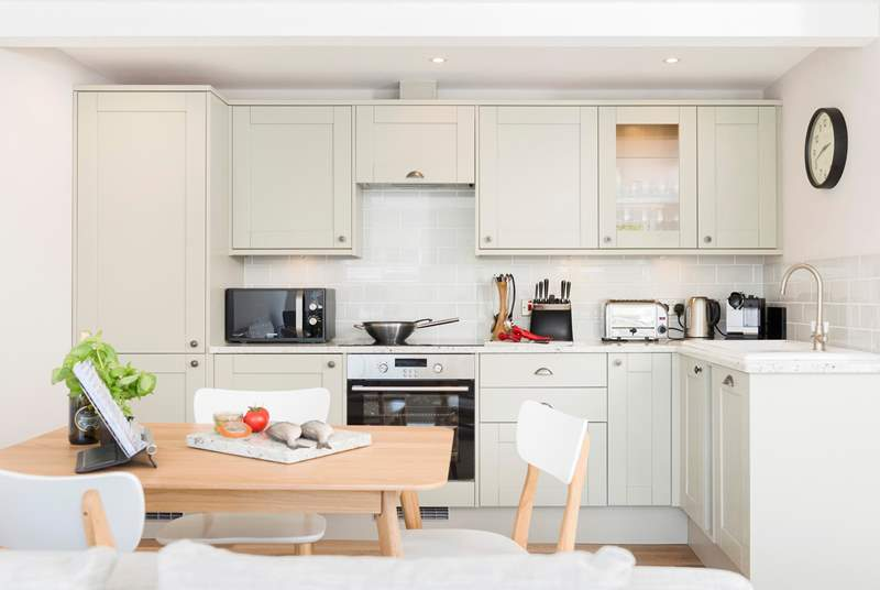 An example of open plan living with a fabulous kitchen.