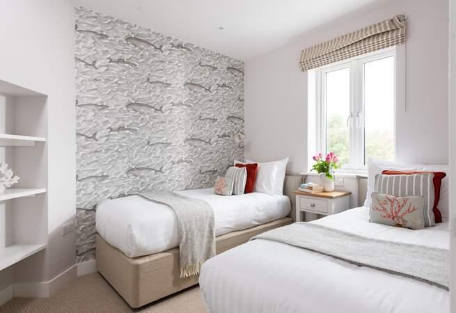 The twin bedroom has a fabulous coastal theme (Bedroom 3).