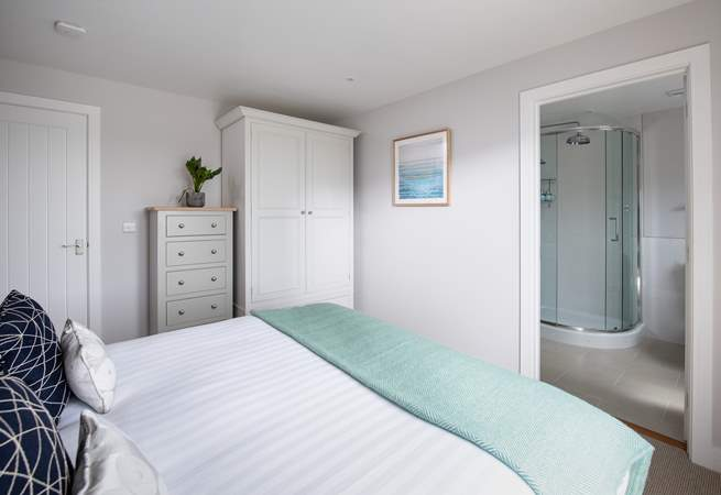 The master bedroom has an en suite shower room.