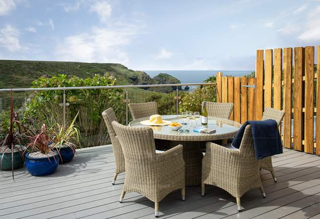 Enjoy any meal on the fabulous terrace.