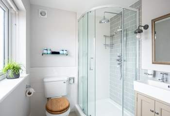 The master en suite shower room.