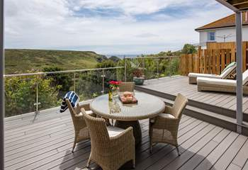 Enjoy the stunning views from your terrace.