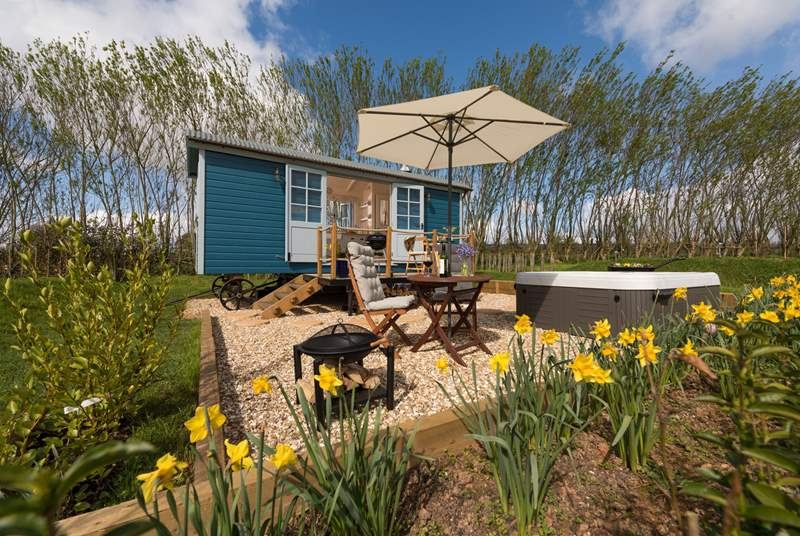 Escape the every-day at Crannaford Shepherd's Hut.