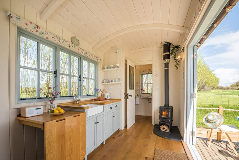 This idyllic retreat is beautifully hand-crafted and is gorgeous both inside and out.