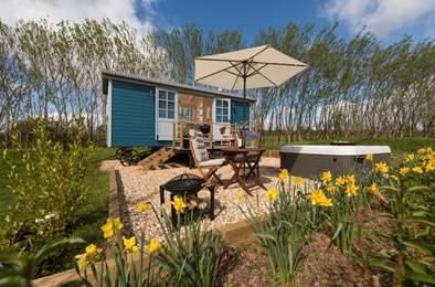Crannaford Shepherd's Hut. Sleeps 2, 5.8 miles E of Exeter