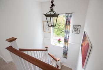 Light fills this modern house.