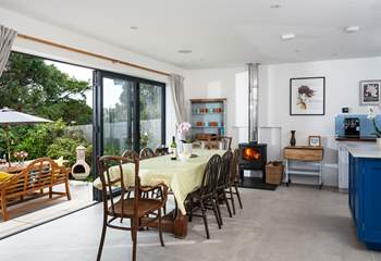 Open the double doors and enjoy bringing the outside in at this stunning house (please note the bi-folds do not open all the way).