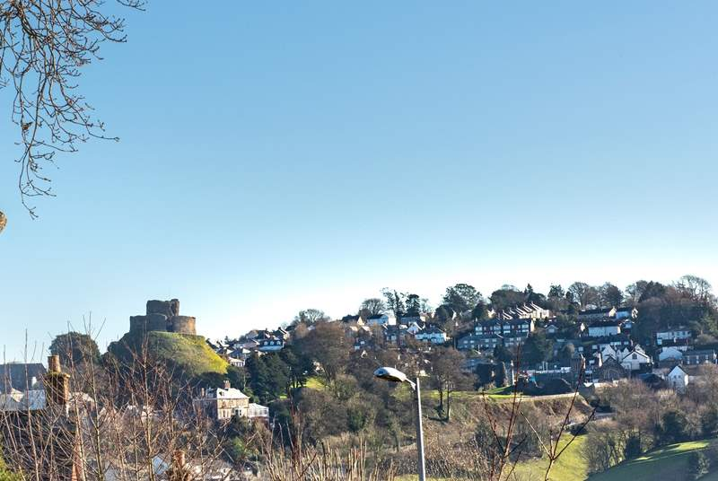 There are views across to Launceston Castle.