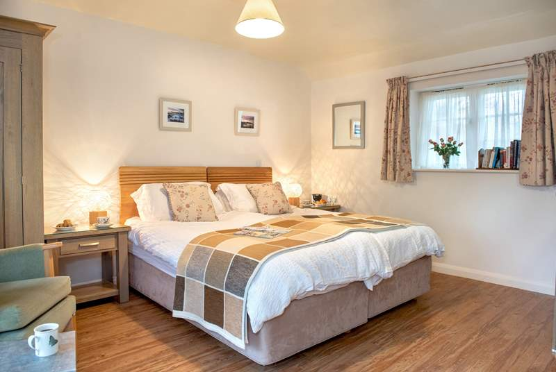 The studio has a super-king size bed which can either be made up as a double or twin beds.
